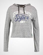 Superdry COLLEGE CROP  Topper langermet mascott charcoal