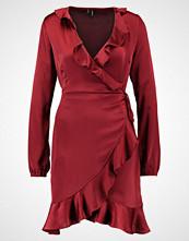 Vero Moda VMHENNA SHINE WRAP SHORT DRESS Sommerkjole cabernet