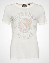 Superdry OLIVIA COLLEGIATE  Tshirts med print alumni cream