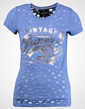 Superdry STACKER BURNOUT ENTRY TEE Tshirts med print pavillion navy