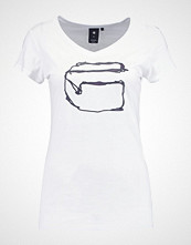 G-Star GStar MONTHON SLIM V T S/S Tshirts med print white