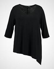 Dorothy Perkins Curve NECK ASYMMETRIC HEM Tshirts black