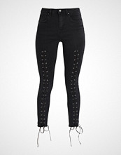 New Look LACE UP FRONT  Jeans Skinny Fit black