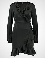 Vero Moda VMHENNA SHINE WRAP SHORT DRESS Sommerkjole black