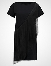 Miss Selfridge FRINGED DRESS Jerseykjole black