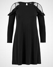 Wallis SPOT RUFFLE SHOULDER SWING Jerseykjole black