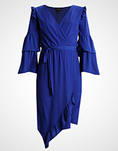 Miss Selfridge WRAP MIDI DRESS Sommerkjole blue