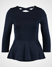 Tom Tailor Denim PEPLUM SHIRT Topper langermet dark blue