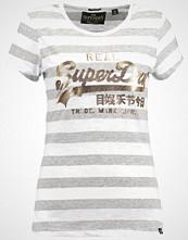 Superdry VINTAGE LOGO STRIPE ENTRY TEE Tshirts med print foxglove white/calla grey marl
