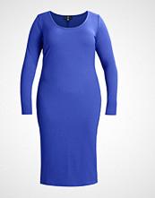 Missguided Plus PLUS LONG SLEEVE MIDI DRESS Strikket kjole cobalt blue