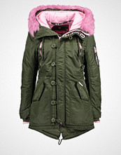 Superdry Parka army/pink