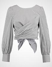 Missguided STRIPE POPLIN TIE BACK BLOUSE Bluser grey
