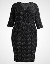 Dorothy Perkins Curve BILLIE WRAP BODYCON LUREX DRESS  Cocktailkjole black silver