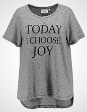 Zizzi LOUNGE Tshirts med print grey melange