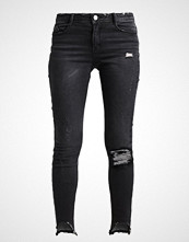 Missguided ANARCHY STEPPED Slim fit jeans black