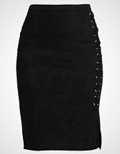 New Look LACE UP PENCIL Blyantskjørt black