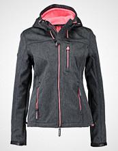 Superdry HOODED WINDTREKKER Lett jakke black grit/shocking pink