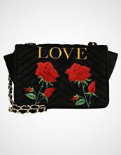 Missguided LOVE EMBROIDERED CROSS BODY BAG Skulderveske black