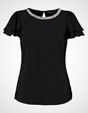 Dorothy Perkins EMBELLISHED NECK RUFFLE SOFT Bluser black