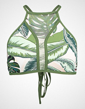 Seafolly PALM BEACH HIGH NECK TANK Bikinitop moss