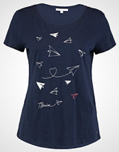 Tom Tailor Denim TEE WITH CREWN Tshirts med print real navy blue