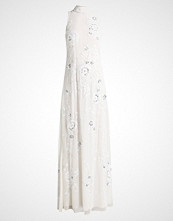 Frock and Frill HIGH NECK ALL OVER SEQUIN SHIFT MAXI DRESS Ballkjole ivory
