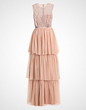 Maya Deluxe SLEEVLESS MAXI TIERED DRESS WITH BOW BACK Ballkjole nude