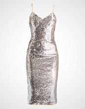 Maya Deluxe MIDI CAMI DRESS WITH FULL SEQUIN EMBELLISHMENT Cocktailkjole silver