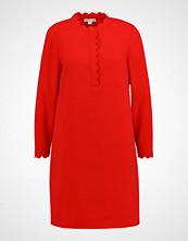 Whistles SCALLOPED CREPE DRESS Kjole red