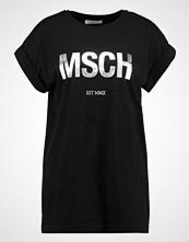 Moss Copenhagen ALVA TEE Tshirts med print black/silver foil