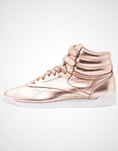Reebok Classics FREESTYLE METALLIC Høye joggesko rose gold/white/silver peony