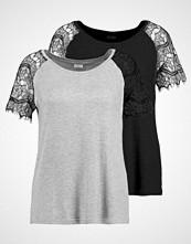 Jdy JDYMINNI 2PACK  Tshirts med print blackpack:black/lgm