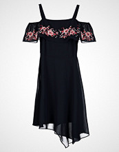 Dorothy Perkins EMBROIDERED BARDOT FIT AND FLARE Sommerkjole dark blue