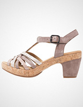Gabor WIDE FIT  Platåsandaler dark nude