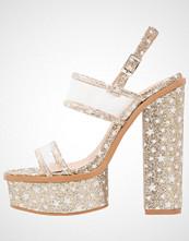Public Desire DYNAMITE Sandaler med høye hæler gold glitter