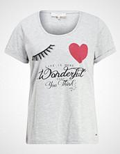 Cream VALERIE Tshirts med print light grey melange