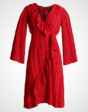 Lost Ink ASYMETRIC WRAP DRESS Sommerkjole coral