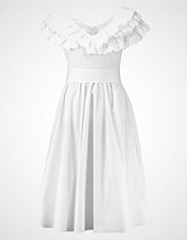 Lost Ink BRODERIE FIT AND FLARE DRESS Sommerkjole white
