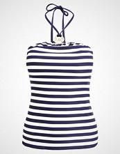 Michael Kors LOGO RING SHIRRED BANDINI STRIPES Bikinitop new navy