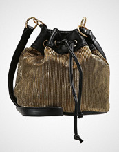 Missguided DRAWSTRING PLEATED BUCKET BAG Skulderveske gold