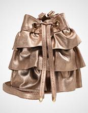 Missguided LAYERED RUFFLE DRAWSTRING BAG Skulderveske bronze