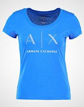 Armani Exchange Tshirts med print victoria blue