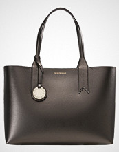Emporio Armani SHOPPING BAG BIG Håndveske acciaio/nero