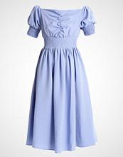 Lost Ink MINI STRIPE BARDOT FIT AND FLARE DRESS Sommerkjole blue