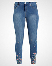 Dorothy Perkins FLORAL EMBROIDED HEM DARCY Jeans Skinny Fit blue