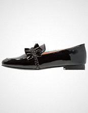 Lost Ink FIONA RUFFLE PLAIT LOAFER Slippers black