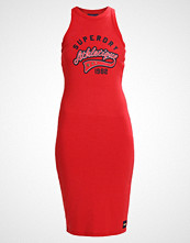 Superdry PACIFIC BODYCON DRESS Jerseykjole flare red