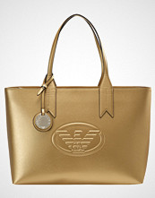 Emporio Armani SHOPPING BAG LOGO DEBOSSED SHOPPER ZIP Håndveske oro