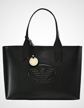 Emporio Armani SHOPPING BAG LOGO DEBOSSED SHOPPER ZIP Håndveske nero