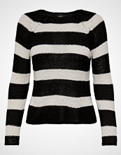 Only TITANIA STRIPE KNIT Jumper blackstripes cloud dancer